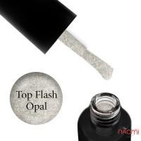 Топ для гель-лака без липкого слоя F.O.X Top Flash Opal светоотражающий, 5 мл