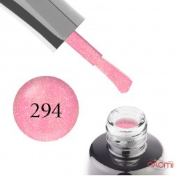 Гель-лак LUXTON 294 нежный розовый с переливающимися разноцветными блестками, 10 мл