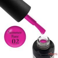 База цветная Oxxi Professional Summer Base 002, цветочно-розовый неон, 10 мл