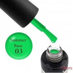 База цветная Oxxi Professional Summer Base 003, зеленый неон, 10 мл