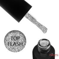 Топ для гель-лаку без липкого шару F.O.X Top Flash світловідбиваючий, 5 мл