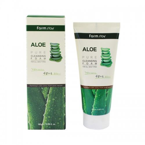 Пенка для умывания Farmstay Aloe Pure Cleansing Foam увлажняющая с экстрактом алоэ, 180 мл, фото 1, 115.00 грн.