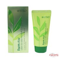 Сонцезахисний крем для обличчя Farmstay Green Tea Seed Moisture Sun Cream SPF 50 + PA +++ зволожуючий з екстрактом зеленого чаю, 70 г