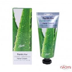 Крем для рук Farmstay Visible Difference Hand Cream Aloe с экстрактом алоэ, 100 г