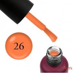База неоновая Edlen Professional Rubber Base Summer Neon 26, оранжевый неон, 9 мл