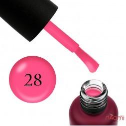 База неоновая Edlen Professional Rubber Base Summer Neon 28, розовый неон, 9 мл