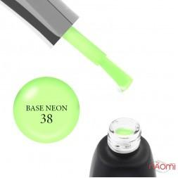База неоновая You POSH French Rubber Base Neon De Luxe 38, яркий салатовый, 12 мл