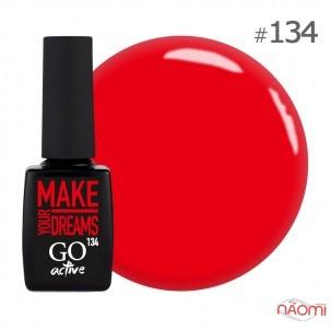Гель-лак GO Active 134 Energy Make Your Dreams соковитий червоний, 10 мл