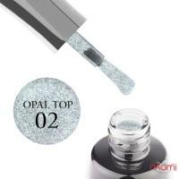 Топ для гель-лака без липкого слоя LUXTON Top No Wipe Opal 02, 10 мл