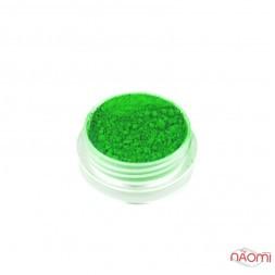 Пигмент неоновый для дизайна ногтей 08, цвет зеленый, 1 г