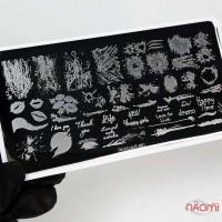 Пластина для стемпингу RichColoR 081 Абстракція, написи