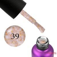 База цветная Edlen Professional Base Potal 39, молочный с золотыми хлопьями потали, 9 мл