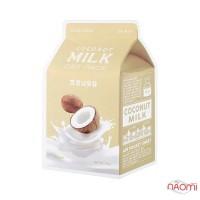 Маска для лица тканевая Apieu Coconut Milk One-Pack с экстрактом кокосового молока и молочными протеинами, 21 г