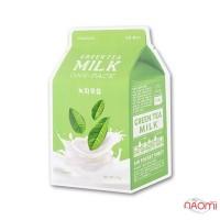 Маска для лица тканевая Apieu Green Tea Milk One-Pack с экстрактом зеленого чая и молочными протеинами, 21 г