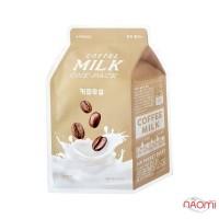 Маска для лица тканевая Apieu Coffee Milk One-Pack с экстрактом кофе и молочными протеинами, 21 г