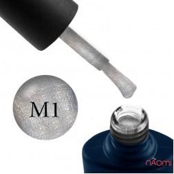Гель-лак NUB Mystery 9D 01 Moon темное серебро с бликом, 8 мл