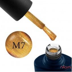 Гель-лак NUB Mystery 9D 07 Sunset оранжево-золотой с бликом, 8 мл