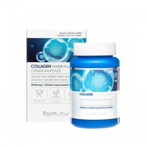 Крем ампульный Farmstay Collagen Water Full Moist Ampoule Cream с коллагеном, 250 мл, фото 1, 312.00 грн.
