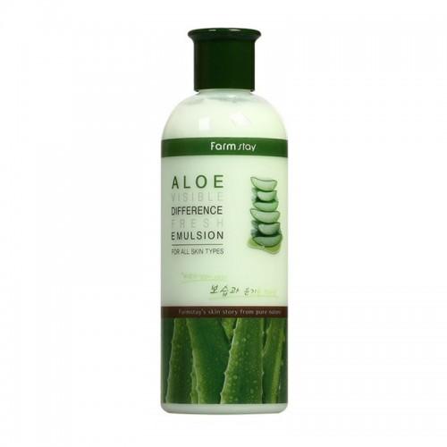 Эмульсия для лица Farmstay Aloe Visible Difference Fresh Emulsion освежающая с экстрактом алоэ, 350 мл, фото 1, 338.00 грн.
