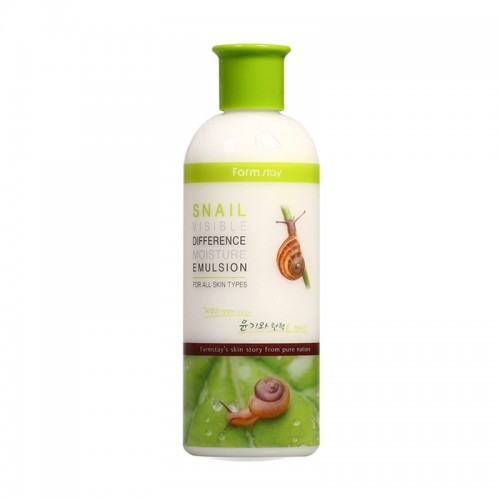Эмульсия для лица Farmstay Snail Visible Difference Moisture Emulsion увлажняющая с муцином улитки, 350 мл, фото 1, 281.00 грн.