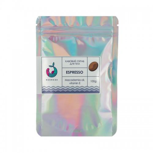 Скраб солевой для тела Mermade Espresso, кофейный, 100 г, фото 1, 99.00 грн.