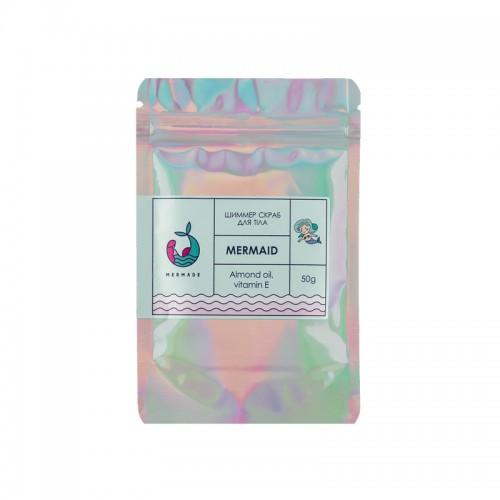 Скраб солевой для тела Mermade Mermaid, свежий парфюмированный аромат, с шиммером, 50 г, фото 1, 59.00 грн.