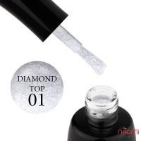 Топ для гель-лака без липкого слоя LUXTON Top No Wipe Diamond 01, 10 мл