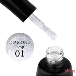 Топ для гель-лаку без липкого шару LUXTON Top No Wipe Diamond 01, 10 мл