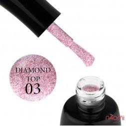 Топ для гель-лаку без липкого шару LUXTON Top No Wipe Diamond 03, 10 мл