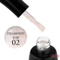 Топ для гель-лака без липкого слоя LUXTON Top No Wipe Diamond 02, 10 мл