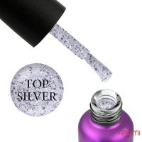 Топ для гель-лака без липкого слоя Edlen Professional Top Silver Potal, 9 мл