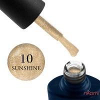 Гель-лак NUB Night Light 10 Sunshine золотой песок с блестками и шиммерами, светоотражающий, 8 мл