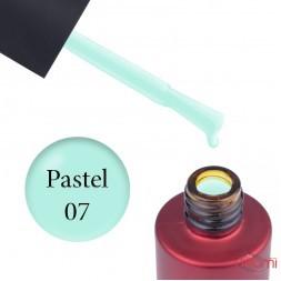 База кольорова Kodi Professional Color Rubber Base Gel Pastel 07, пастельний бірюзовий, 7 мл