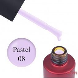 База кольорова Kodi Professional Color Rubber Base Gel Pastel 08, пастельний бузковий, 7 мл
