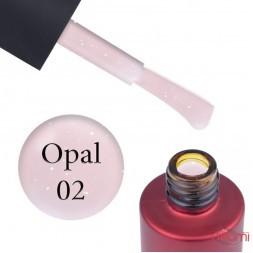 База кольорова Kodi Professional Color Rubber Base Gel Opal 02, найніжніша пудра з опаловим шимером, 7 мл