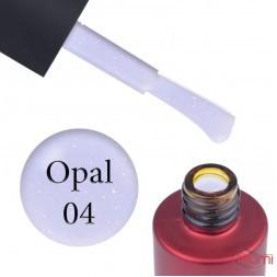 База кольорова Kodi Professional Color Rubber Base Gel Opal 04, ліловий з опаловим шимером, 7 мл