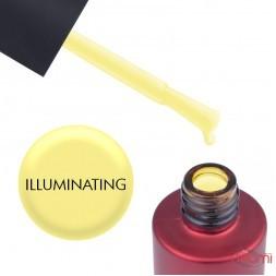 База кольорова Kodi Professional Color Rubber Base Gel Illuminating, яскраво-жовтий, 7 мл