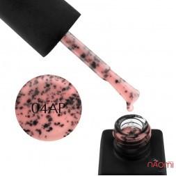 Гель-лак Kodi Professional Animal Print AP 004 рожевий з чорними пластівцями, 8 мл