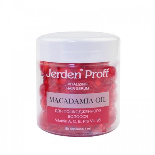 Сыворотка в капсулах Jerden Proff Macadamia Oil регенерирующая для поврежденных волос, 50х1 мл, фото 1, 320.00 грн.