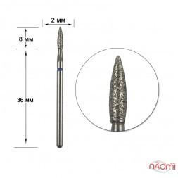 Насадка с алмазным напылением 243.021B, для обработки кутикулы в маникюре, педикюре