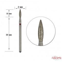 Насадка с алмазным напылением 243.021R, для обработки кутикулы в маникюре и педикюре