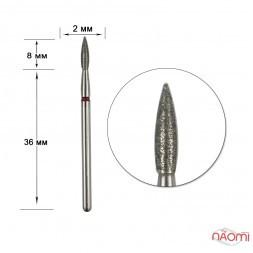 Насадка с алмазным напылением 243.023R, для обработки кутикулыв маникюре, педикюре