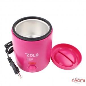 Воскоплав баночний ZOLA Brow Wax Complete System, чаша 200 мл, колір рожевий