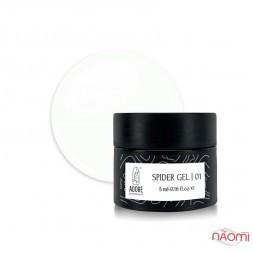 Гель Паутинка Adore Professional Spider Gel 01, цвет белый, 5 мл
