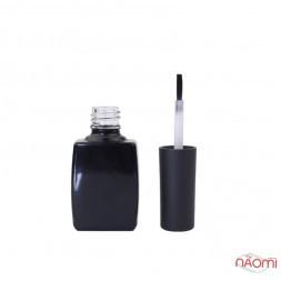 Бутылочка для лака, стеклянная, черная, 10 мл