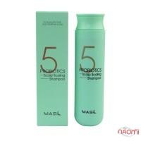 Шампунь для волос Masil 5 Probiotics Scalp Scaling Shampoo глубоко очищающий с пробиотиками , 300 мл