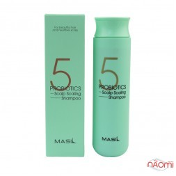 Шампунь для волосся Masil 5 Probiotics Scalp Scaling Shampoo глибоко очищуючий з пробіотиками, 300 мл