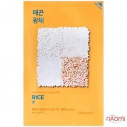 Маска для лица тканевая Holika Holika Pure Essence Mask Sheet Rice увлажняющая против пигментации с экстрактом риса, 23 мл
