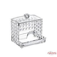 Органайзер для ватных палочек BoxUp FT-025 Diamond, пластик, 8,5x10x7 см