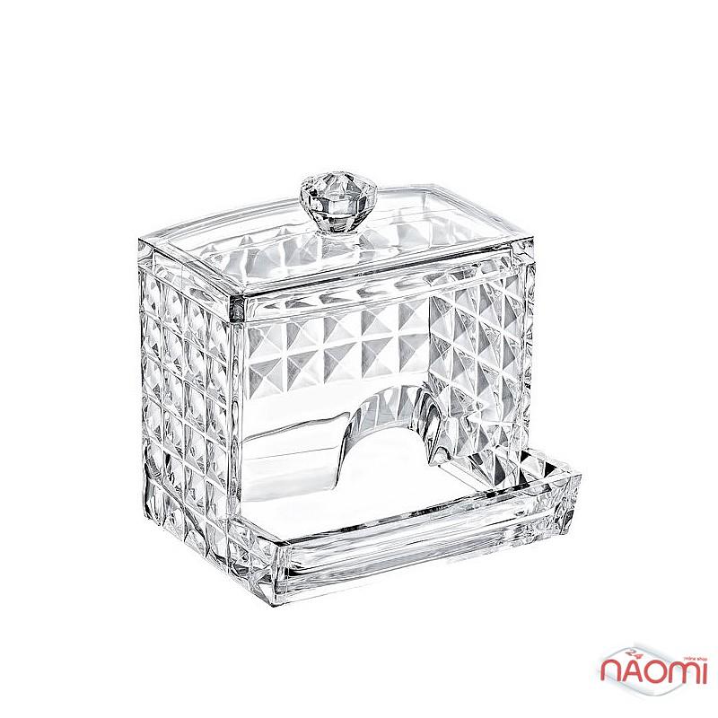 Органайзер для ватных палочек BoxUp FT-025 Diamond, пластик, 8,5x10x7 см, фото 1, 80.00 грн.